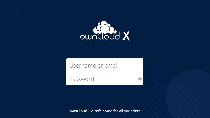 Screenshot mobile landscape - https://cloud.independencia.cl/index.php/login