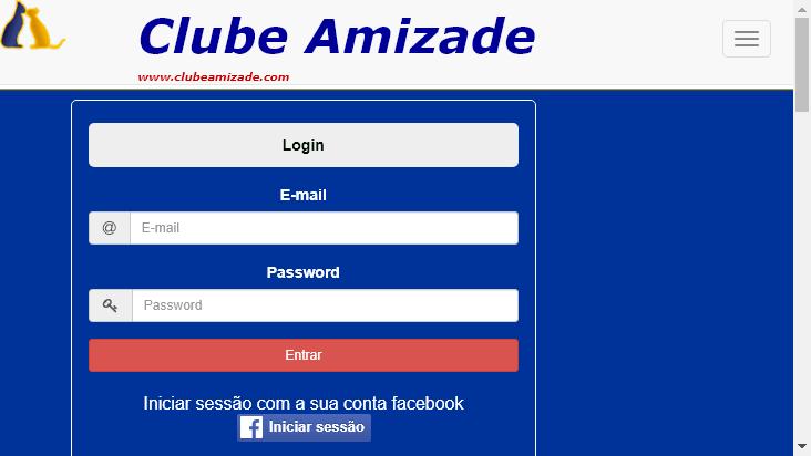 Screenshot mobile landscape - https://clubeamizade.com/