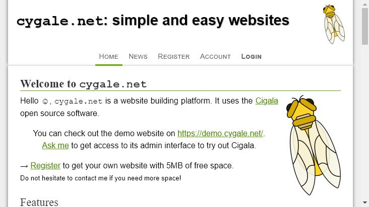 Screenshot mobile landscape - https://cygale.net/