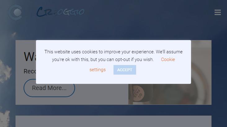 Screenshot mobile landscape - https://www.creoggio.de/