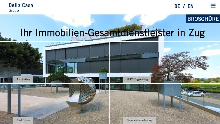 Screenshot mobile landscape - https://della-casa-ag.ch/de/