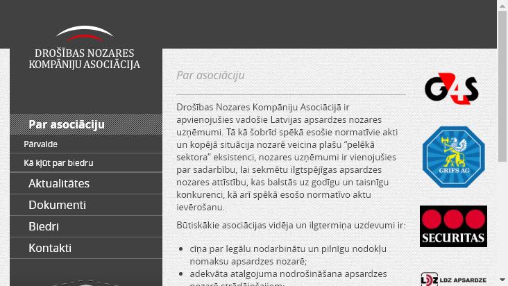 Screenshot mobile landscape - https://www.dnka.lv/