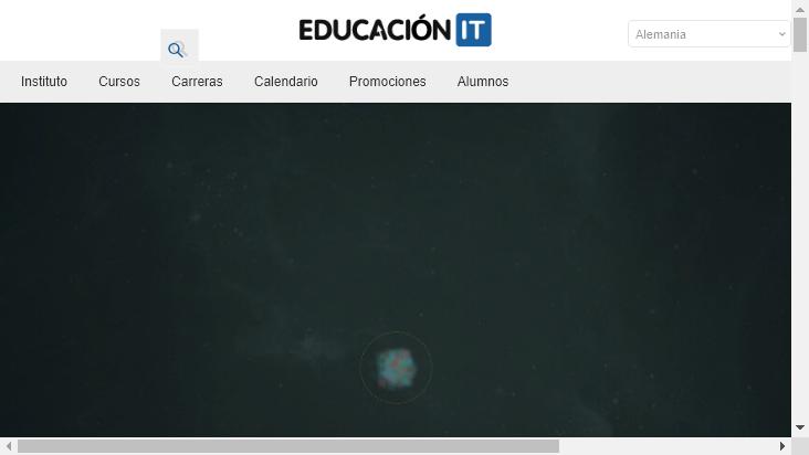 Screenshot mobile landscape - https://www.educacionit.com/
