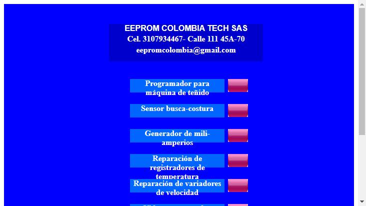 Screenshot mobile landscape - https://eepromcolombia.com/
