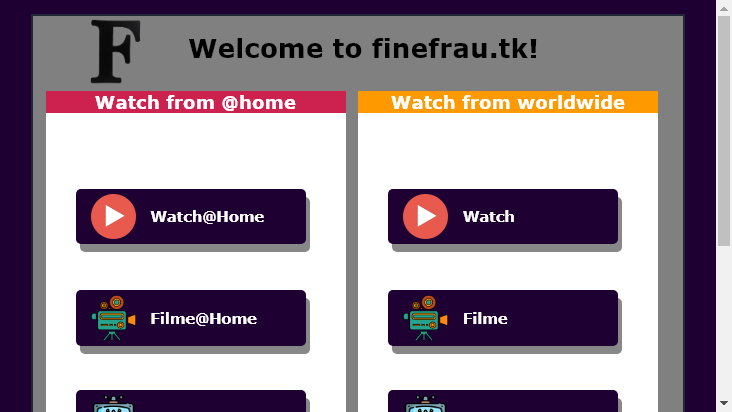 Screenshot mobile landscape - https://finefrau.tk/