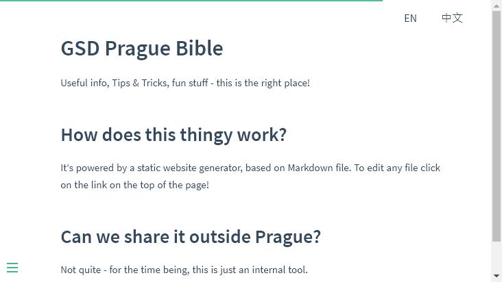Screenshot mobile landscape - https://gsdprague.com/#/
