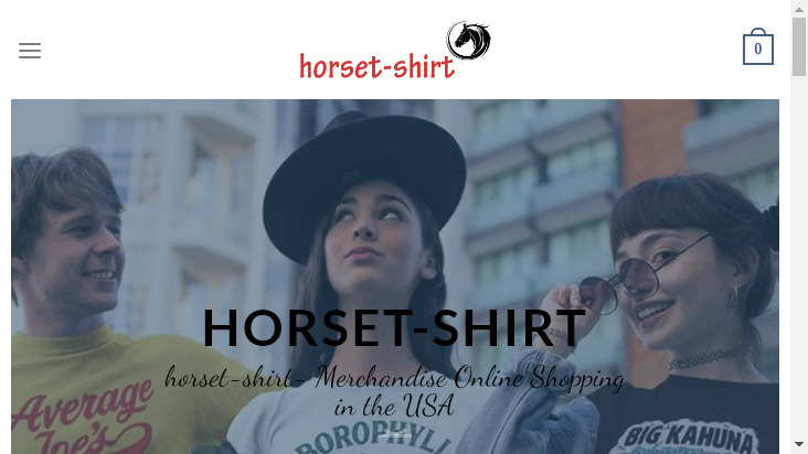 Screenshot mobile landscape - https://horset-shirt.com/