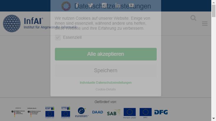 Screenshot mobile landscape - https://infai.org/