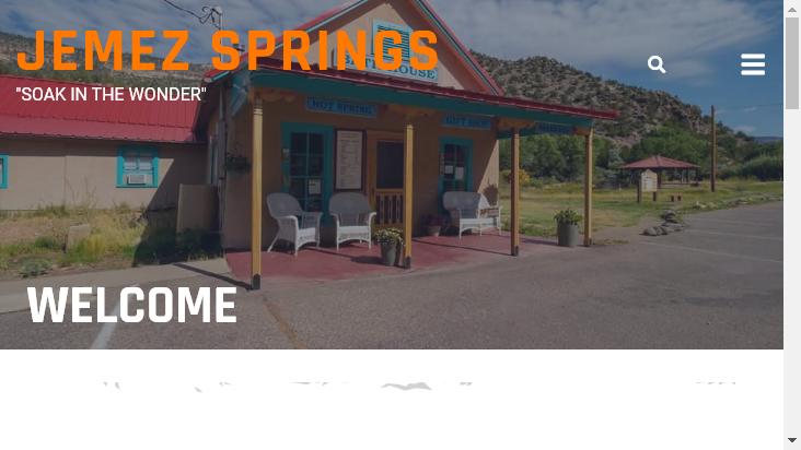 Screenshot mobile landscape - https://jemezsprings.org/