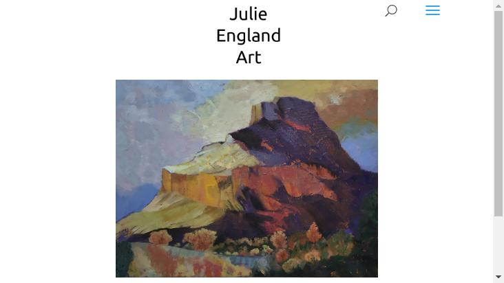 Screenshot mobile landscape - https://www.julieenglandart.com/