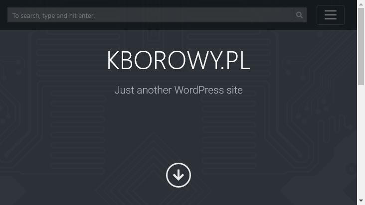 Screenshot mobile landscape - https://www.kborowy.pl/
