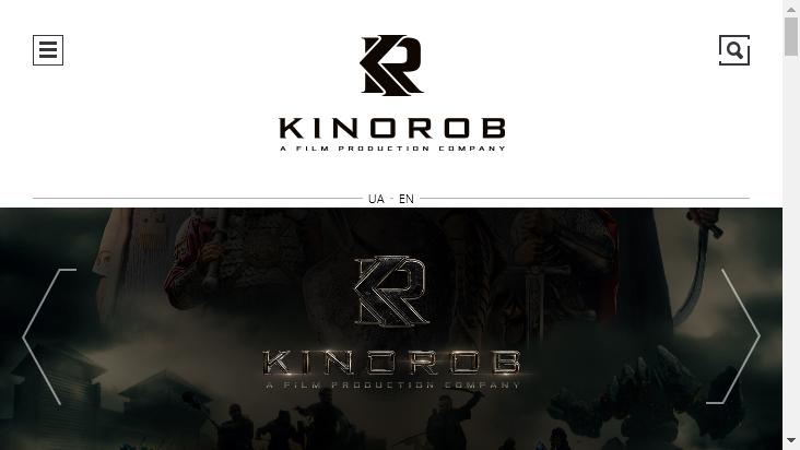 Screenshot mobile landscape - https://kinorob.com/en/