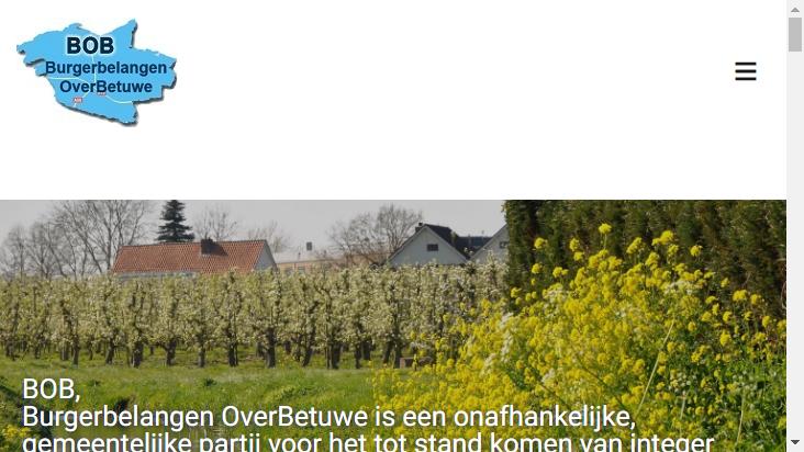 Screenshot mobile landscape - https://lijstbob.nl/