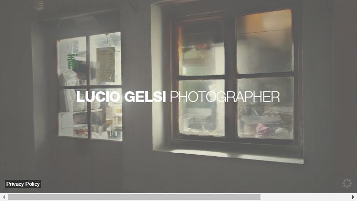 Screenshot mobile landscape - https://www.luciogelsi.com/en/