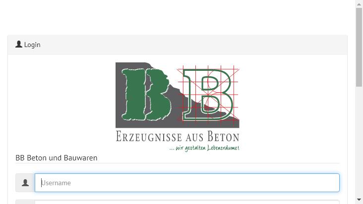 Screenshot mobile landscape - https://mail.bbbeton.de/