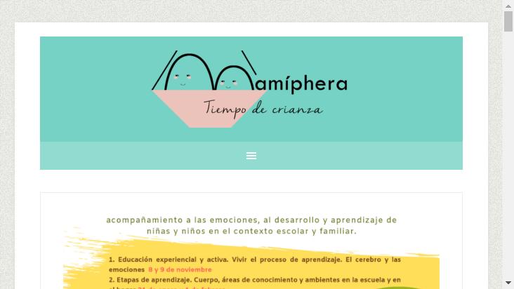 Screenshot mobile landscape - https://www.mamiphera.es/