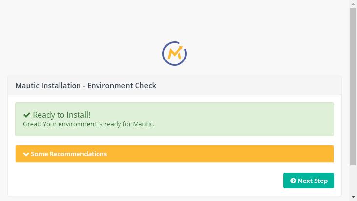 Screenshot mobile landscape - https://mautic.eukast.com/index.php/installer