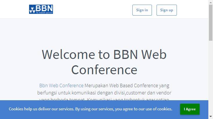 Screenshot mobile landscape - https://meeting.bbn.co.id/b