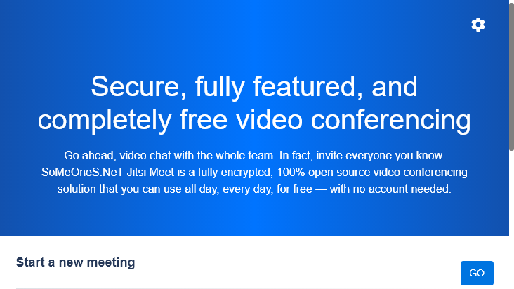Screenshot mobile landscape - https://meeting.someones.net/