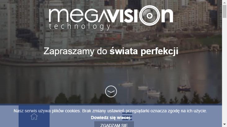 Screenshot mobile landscape - https://www.megavision.pl/