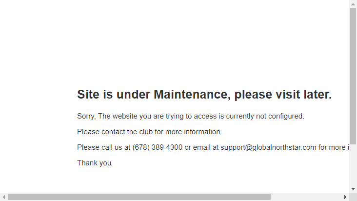 Screenshot mobile landscape - https://members.springlakegolfclub.net/