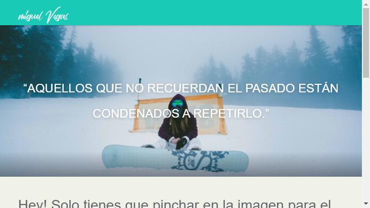 Screenshot mobile landscape - https://miguelvegas.com/