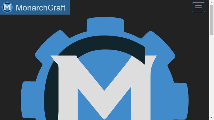 Screenshot mobile landscape - https://monarchcraft.net/