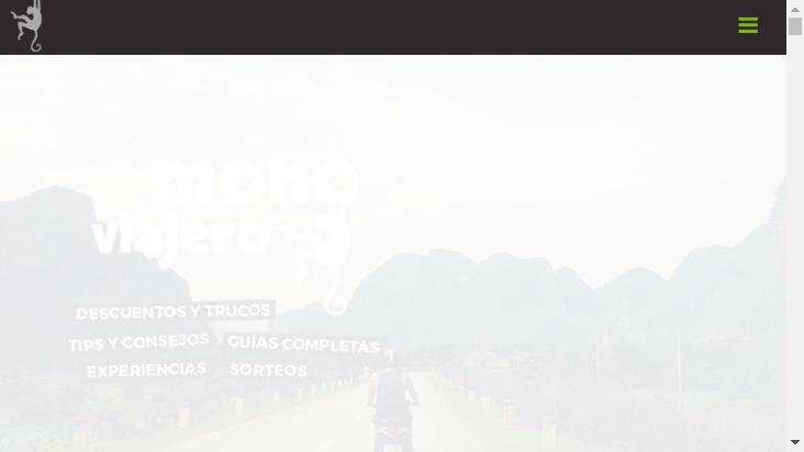 Screenshot mobile landscape - https://www.monoviajero.com/