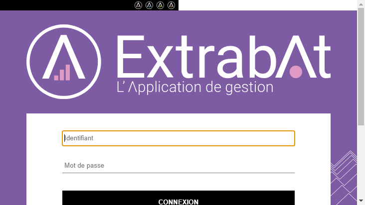 Screenshot mobile landscape - https://www.myextrabat.com/authentification