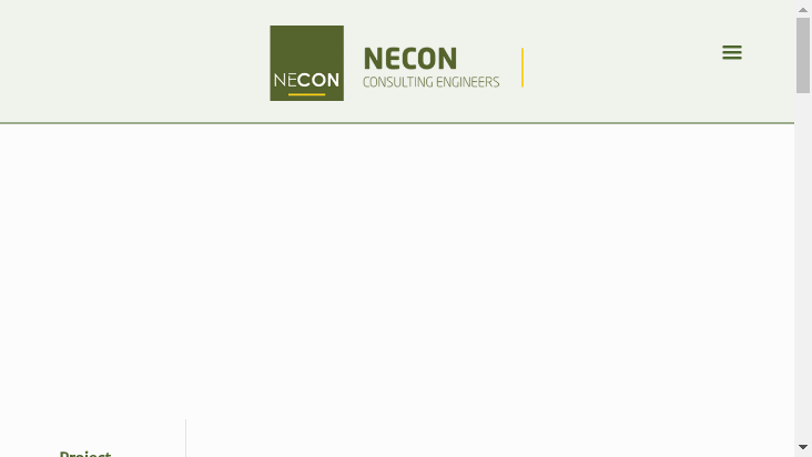 Screenshot mobile landscape - https://www.necon.co.bw/