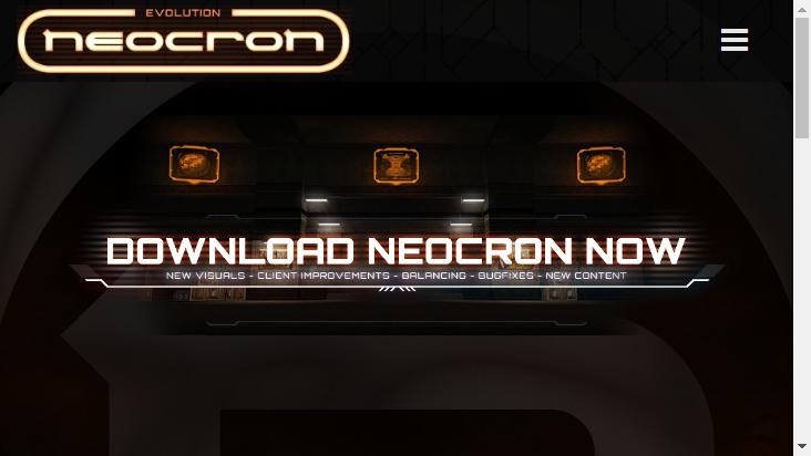 Screenshot mobile landscape - https://neocron-game.com/