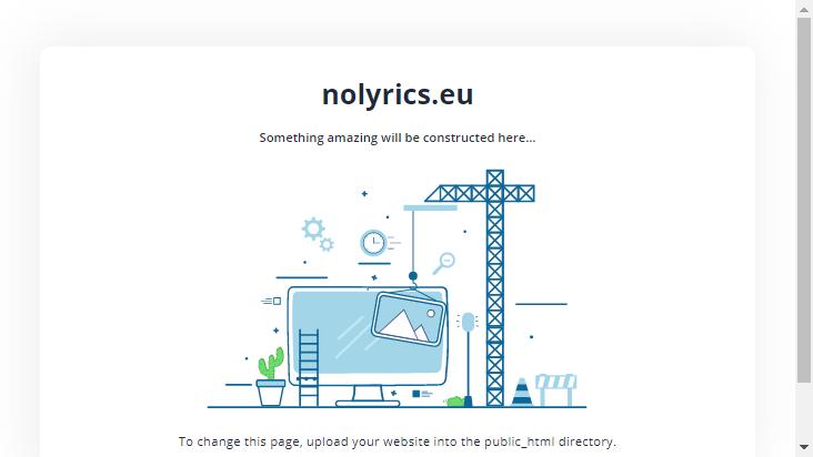 Screenshot mobile landscape - https://nolyrics.eu/