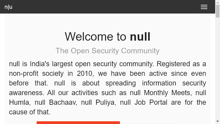 Screenshot mobile landscape - https://null.community/