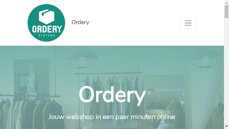 Screenshot mobile landscape - https://www.ordery.nl/
