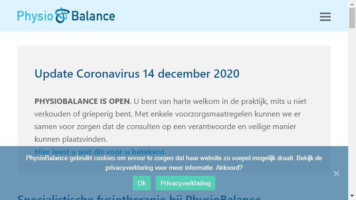 Screenshot mobile landscape - https://physiobalance.nl/