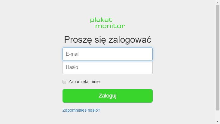 Screenshot mobile landscape - https://plakatmonitor.pl/login