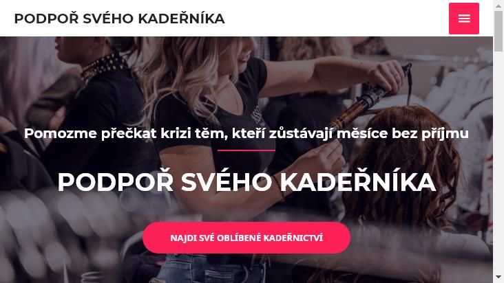 Screenshot mobile landscape - https://podporsvehokadernika.cz/