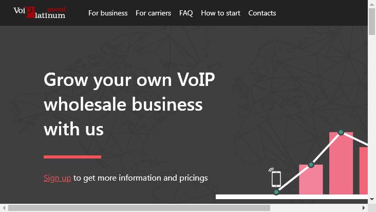 Screenshot mobile landscape - https://portal.voiplatinum.com/