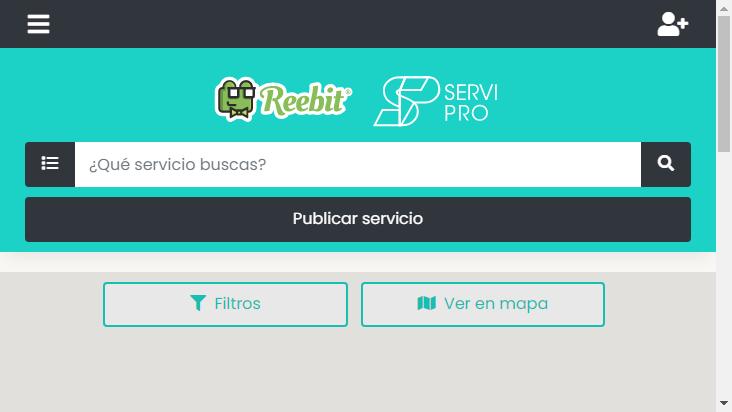Screenshot mobile landscape - https://providencia-test.reebit.co/providencia/home