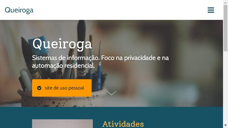 Screenshot mobile landscape - https://queiroga.com.br/