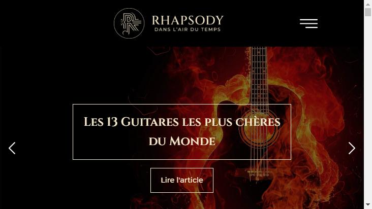 Screenshot mobile landscape - https://www.rhapsody.fr/