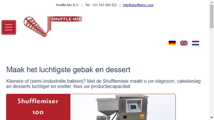 Screenshot mobile landscape - https://shufflemix.de/