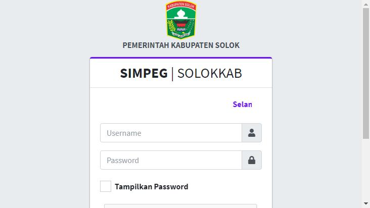 Screenshot mobile landscape - https://simpeg.solokkab.go.id/