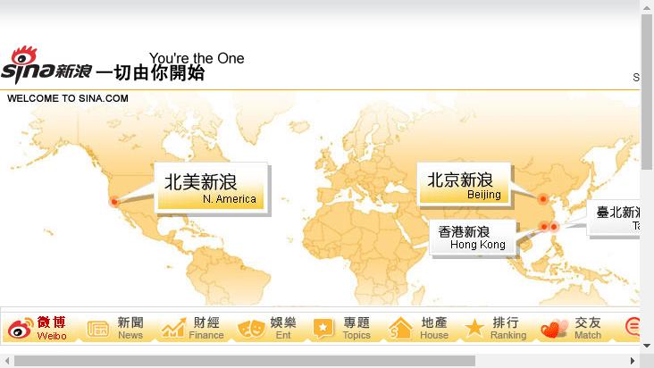 Screenshot mobile landscape - https://sina.com/