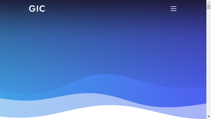 Screenshot mobile landscape - https://solution.gicjp.com/