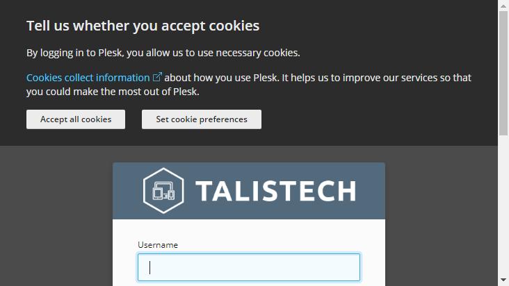 Screenshot mobile landscape - https://sv1.talistech.cloud/login_up.php?success_redirect_url=%2F