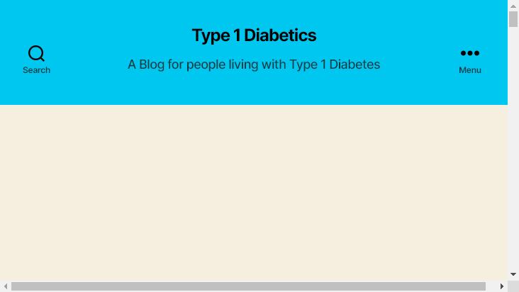 Screenshot mobile landscape - https://www.type1diabetics.org/
