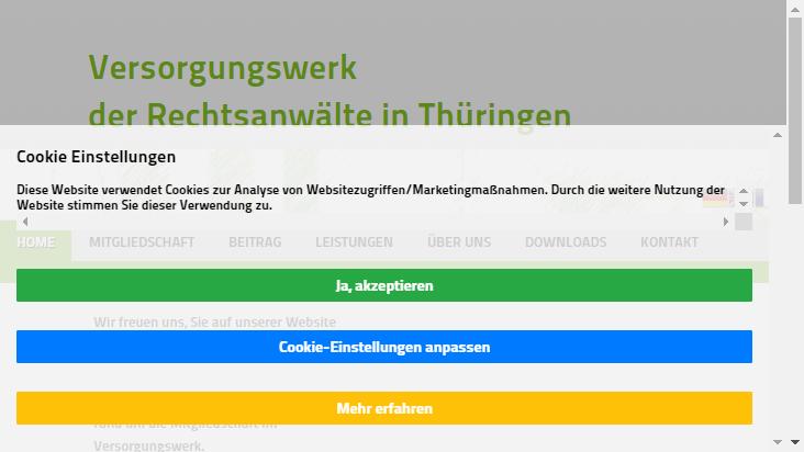 Screenshot mobile landscape - https://vsw-ra-th.de/