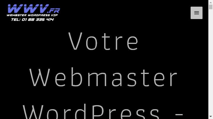 Screenshot mobile landscape - https://www.webmaster-wordpress.fr/