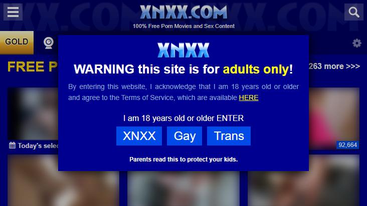 Screenshot mobile landscape - https://www.xnxx.com/